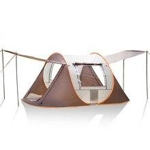 3-4 человек открытый автоматические палатки большой семейный тент водонепроницаемый кемпинг туристический тент