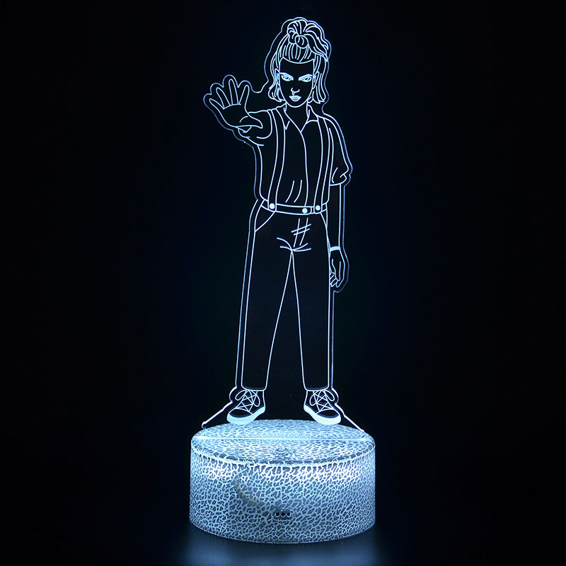 Stranger Things Night Light 3D illusion Eleven Dustin Figurine Table Lamp Kids Room Sleeping Lamp Best Children Christmas Gifts