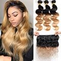 Brazilian Hair Weave Bundles Body Wave Bundles T1B/27 Blonde Ombre Human Hair Bundles Remy Human Hair Extensions
