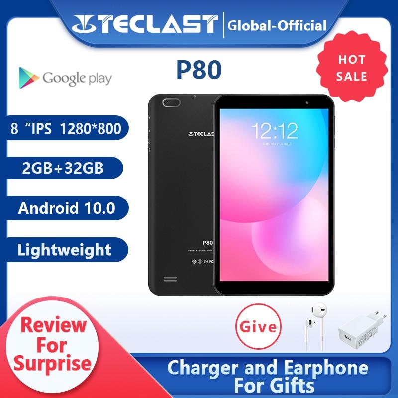 Teclast P80 8 дюймов планшет Планшеты ПК 1280*800 IPS Android 10,0 Quad core 2 Гб Оперативная память 32GB Встроенная память двойной Камера GPS Wi-Fi и Bluetooth