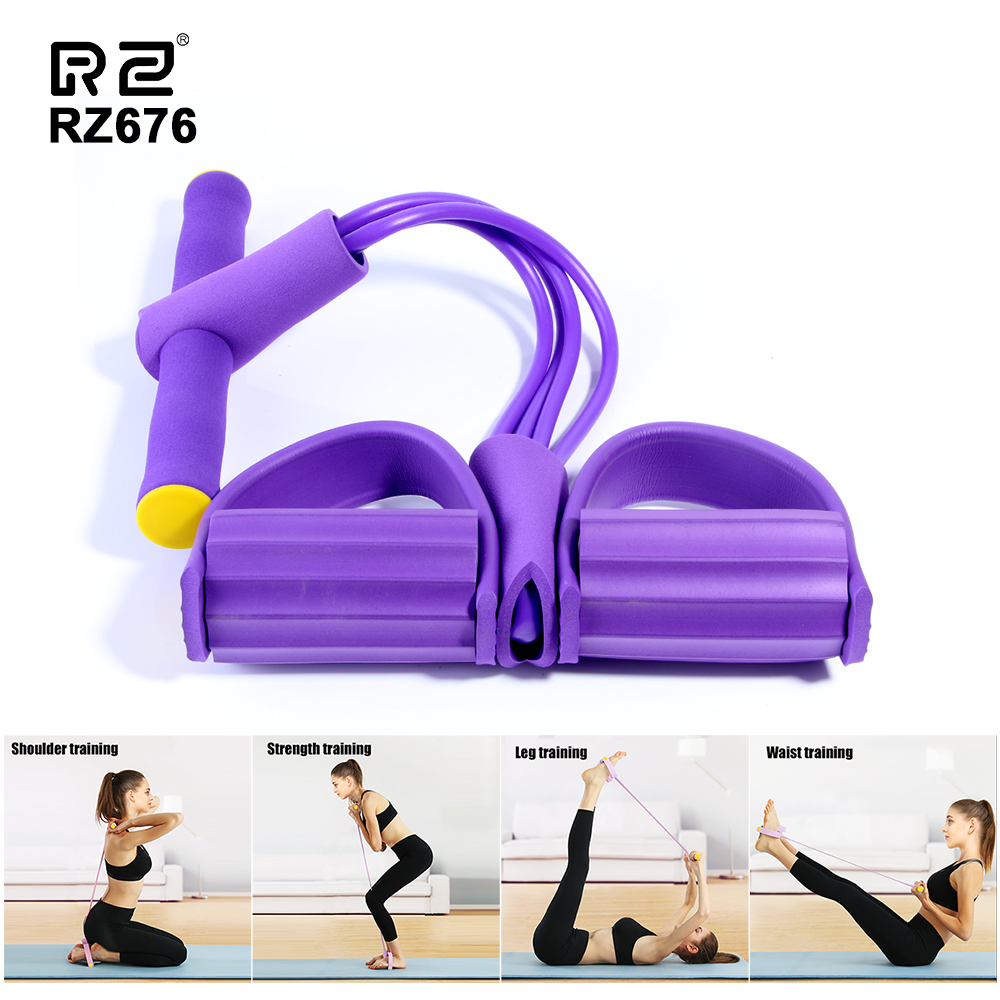 Fitness Resistanc Band Exerciser Rower Belly Resistance Elastic Pull Ropes Home Sport Training Elastic Bands For Gym Equipment