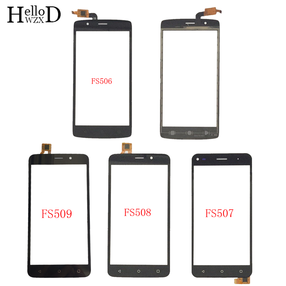 Mobile Touch Screen TouchScreen For Fly FS506 FS507 FS508 FS509 Touch Screen Digitizer Panel Front Glass Lens Sensor 3M Glue