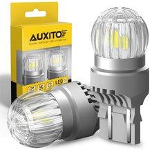 2 stücke 7443 7444 T20 W21/5W LED Led-lampen 12V 6000K Weiß DRL Tag Licht backup Reverse Lampe Für Lada Vesta Granta Kalina Priora