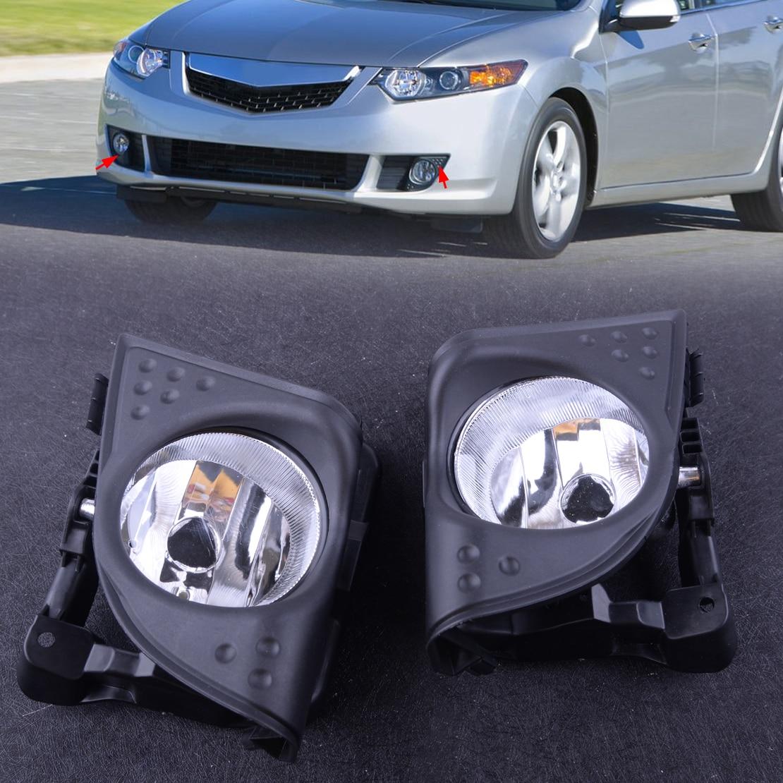 Beler 1 paire voiture gauche droite avant brouillard conduite lampe couvercle garniture cadre 33900TL0A01 33950TL0A01 Fit pour Acura TSX 2009 2010