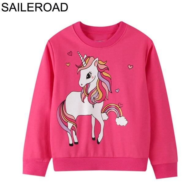 SAILEROAD licorne filles Costume vêtements pour bébé enfants sweats automne 2020 coton enfants vêtements enfant en bas âge filles vêtement