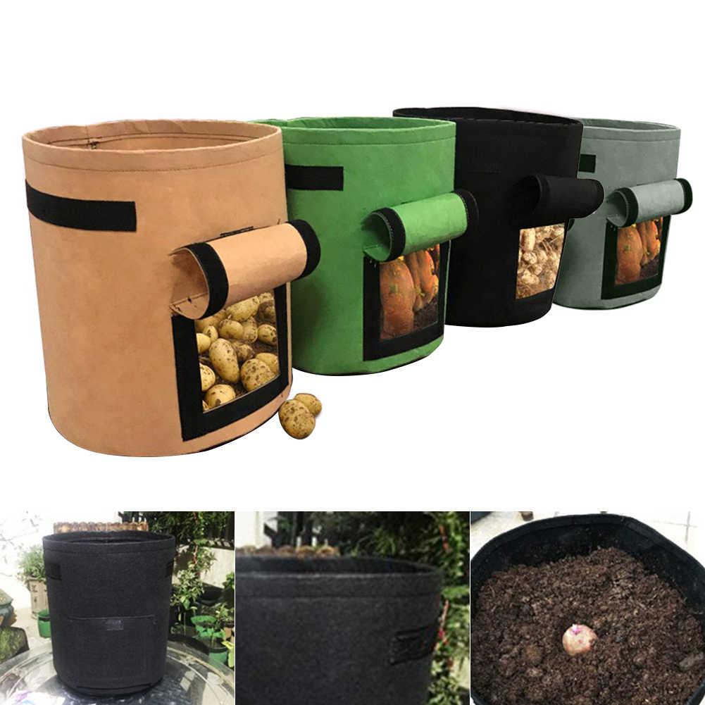 Sadzenie warzyw powiększająca torba DIY sadzarka do ziemniaków tkaniny pomidorowy kwiat sadzenia pojemnik torby zagęścić Yard Pot narzędzia ogrodowe