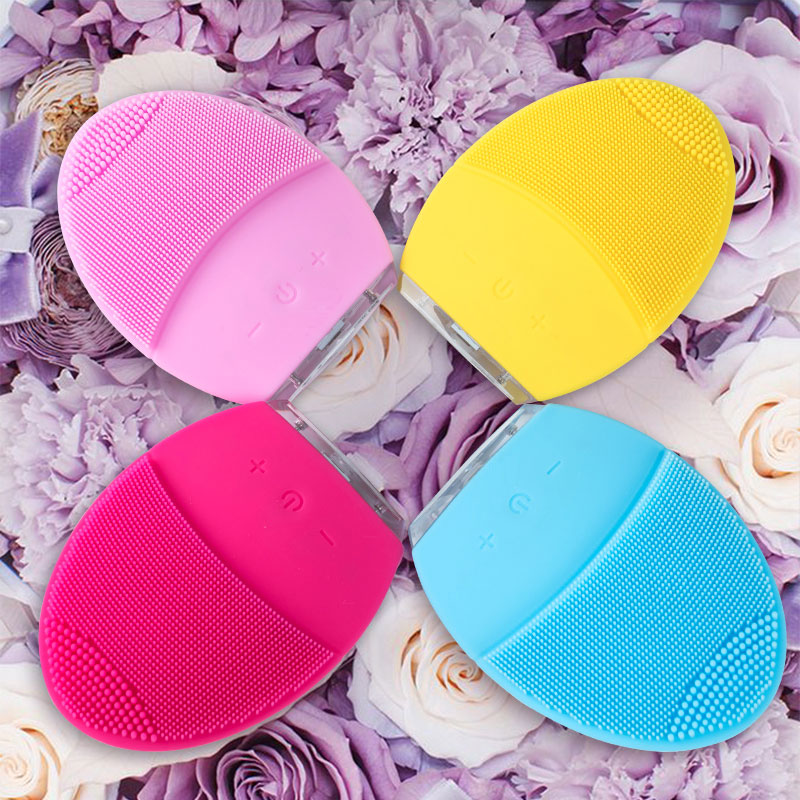 Powered Facial Cleansing Brush Sonic Silicone Cleanser Waterproof USB Rechargeable Skin Care Massage MINI 2 Face Cleaning Brush
