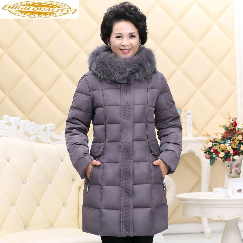 2020 Down Jacket Woman Hooded Winter Coat Women Long Middle-aged Big Fur Collar Plus Size Chamarras De Mujer 162 KJ2585