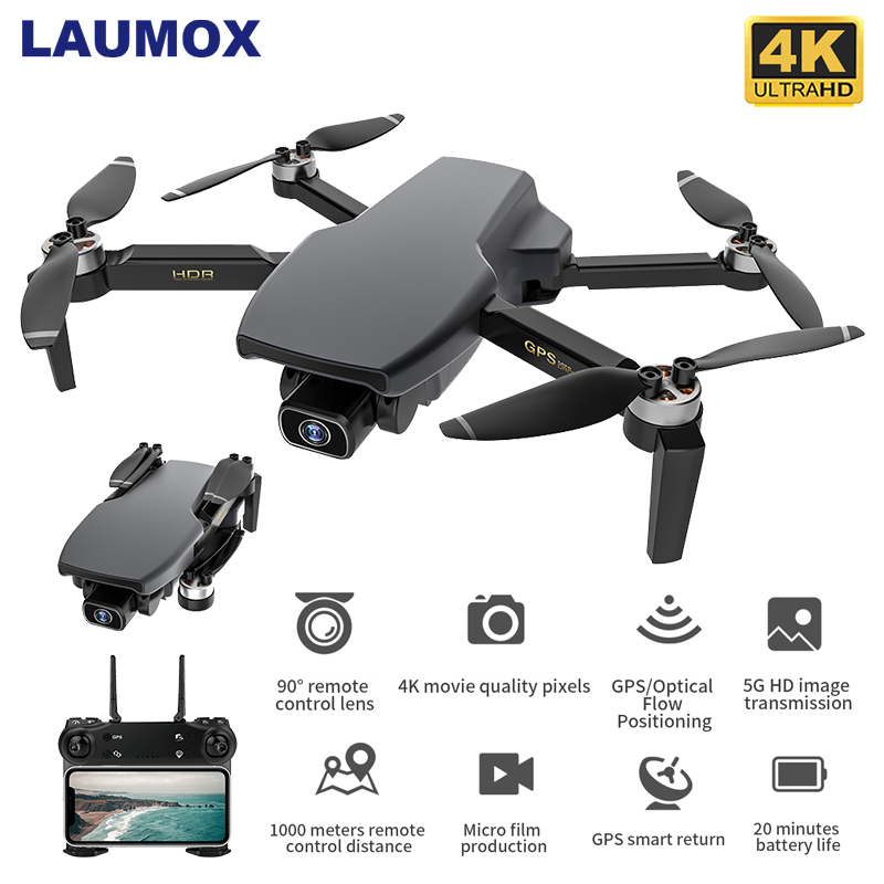 LAUMOX SG108 GPS Drone with 5G Wifi FPV 4K HD Dual Camera Brushless RC Quadcopter 1000m Control Distance Mini Dron L108 EX5