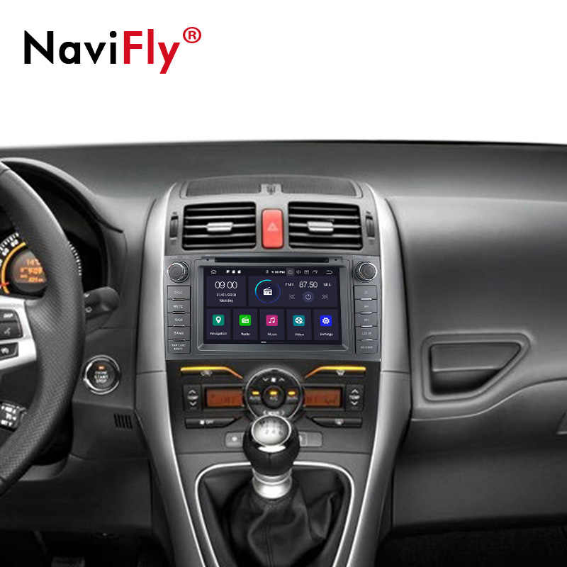 NaviFly 4 + 64G Android9.0 автомобиля dvd-радио GPS навигация для Toyota AURIS 2006 2007 2008 2009 2010 2011 multimedai плеер WI-FI RDS