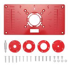 Wood Router Insert-Plate Trimmer Engraving-Machine Flip-Board Multifunctional Aluminium