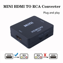 2019 HDMI To AV/RCA CVBS Adapter 1080P Chuyển Đổi Video HDMI2AV Adapter Hộp Chuyển Đổi Hỗ Trợ NTSC PAL Đầu Ra HDMI AV Adapter