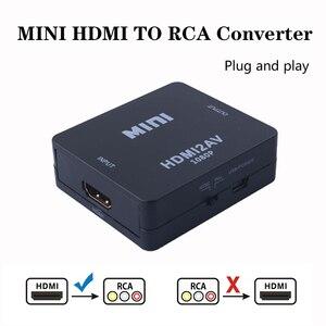 Image 1 - 2019 HDMI to AV/RCA CVBS Adapter 1080P Video Converter HDMI2AV Adapter Converter Box Support NTSC PAL Output HDMI AV Adapter