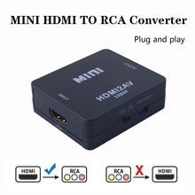 2019 HDMI zu AV/RCA CVBS Adapter 1080P Video Converter HDMI2AV Adapter Konverter Box Unterstützung NTSC PAL Ausgang HDMI AV Adapter