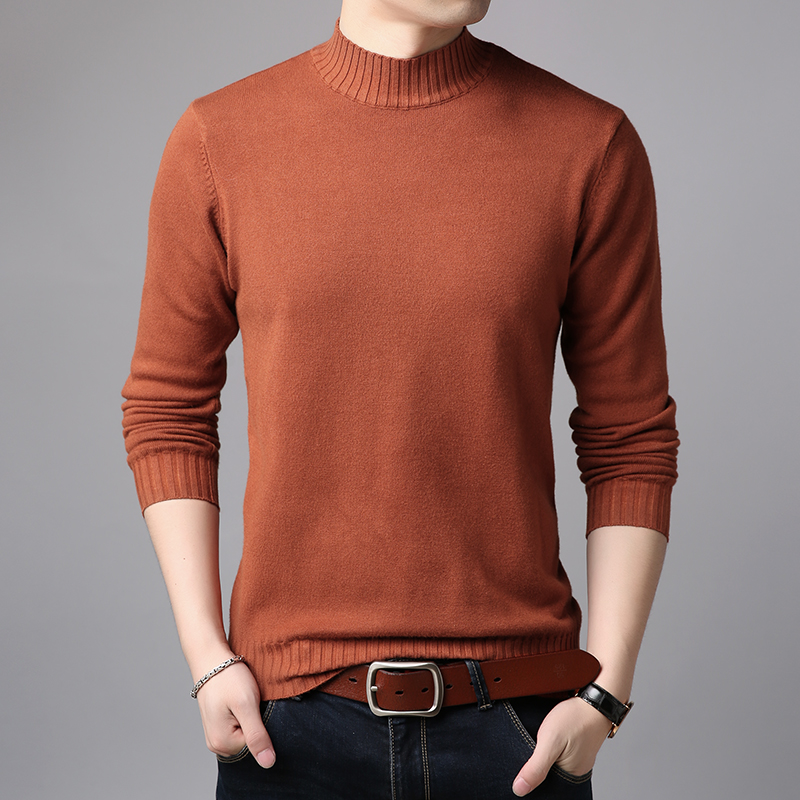 Spring Autumn Mens Basic Turtleneck Warm Sweater Casual Male Long Sleeve Knit Sweater Free Shipping