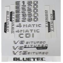 3D Cromo Letras De Prata Para Mercedes Benz W212 W213 E300 E320 E340 E350 E400 E430 E450 E500 E550 4 CDI BLUETEC 4MATIC AMG Emblemas