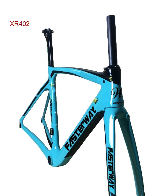 Fasterway XR4 Taiwan Made Carbon Frame Road Bike T1100 UD Dark Blue Black Frameset:carbon Frameset+Seatpost+Fork+Clamp+Headset