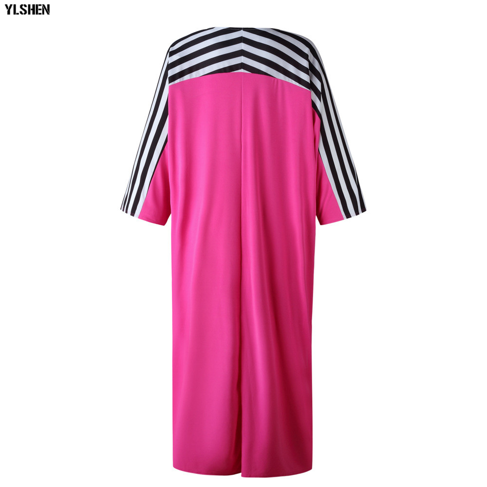 Super Size African Dresses for Women Dashiki Stripe African Clothes New Bazin Riche Sexy V-neck Long Africa Dress Woman Clothing 23