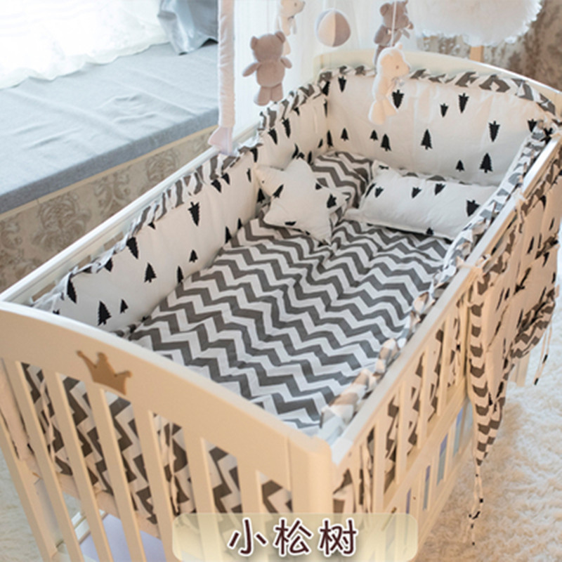 6/9PCS Newborn Baby Cot Bedding Set Bumpers Infant Baby Cot Bedclothes Baby Blanket Kit De Berço Whloe Set