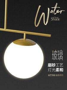 Image 5 - الحديث بسيط أسود/ذهبي قلادة LED ضوء الألومنيوم كرة زجاجية مصباح معلق ل الشمال الطعام غرفة المعيشة غرفة نوم تركيبات