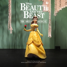 Disney Beauty and the Beast Belle Princess 21cm doll Action Figure Anime Collection Figurine mini Toy model for children gift
