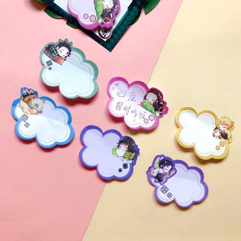 Japanese Anime Demon Slayer Memo Pad Bookmark Mini Memo PadSticky Notes Bookmark Child Student Kawaii Gift Stationery