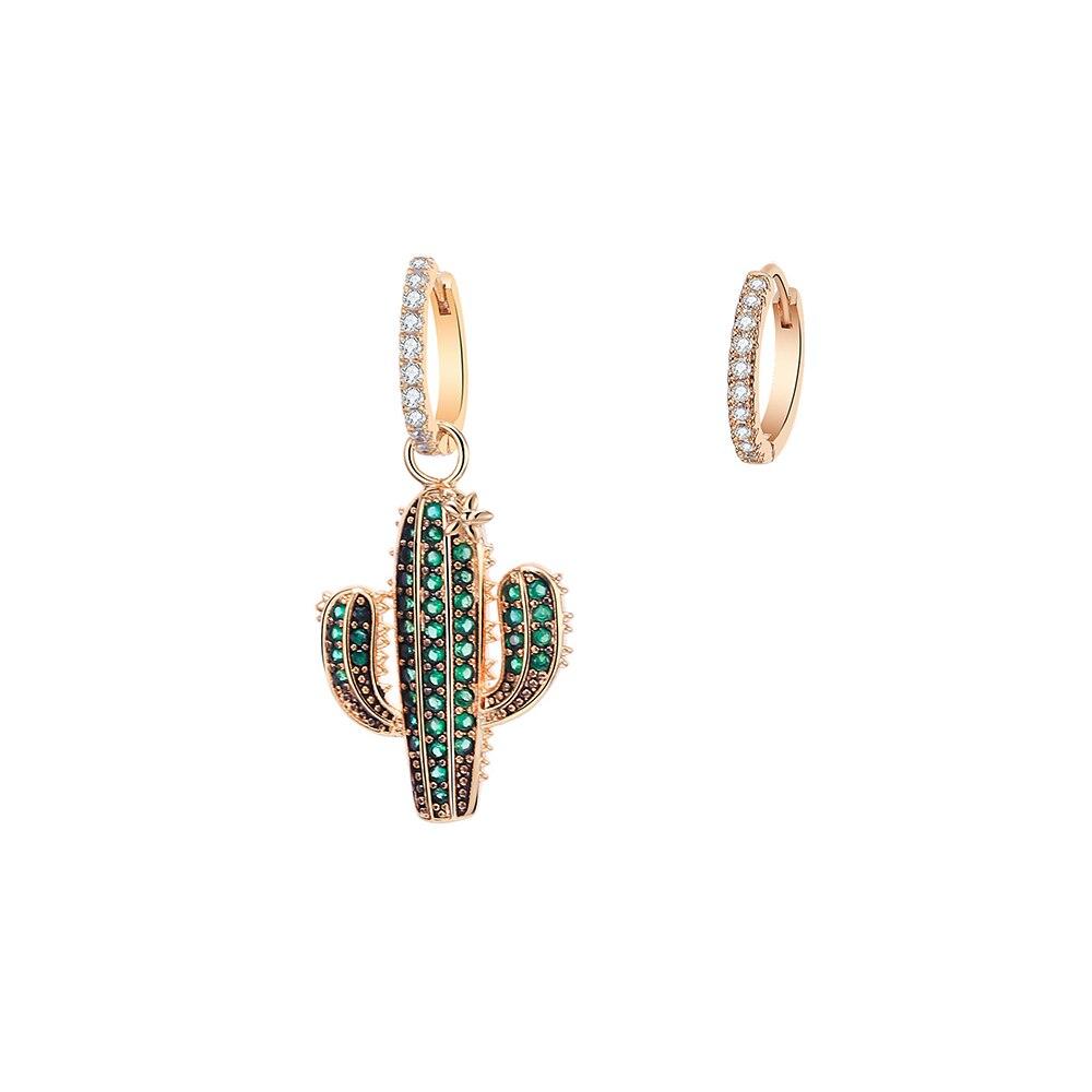 Женские серьги-подвески из розового золота, с фианитом