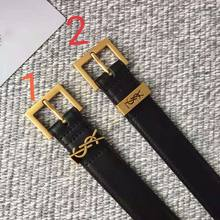 YS002 High Quality Luxury Brand Belt For Women Black Letter Classic Buckle Belt Real Genuine Leather Belts Gifts