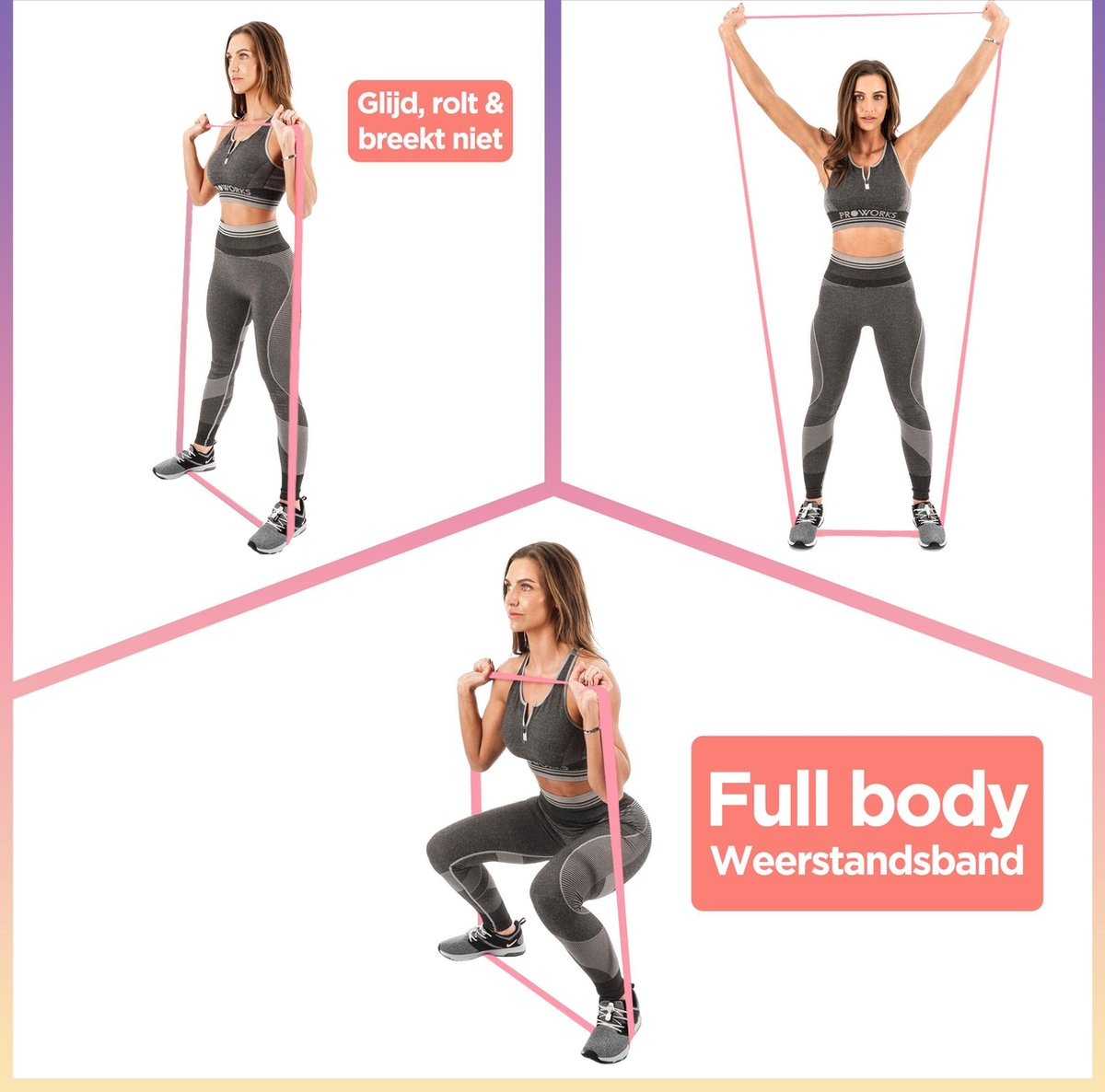 long Booty Band Hip Circle Loop Resistance Band Workout Exercise for Legs  Thigh Glute Butt Squat Bands Non slip Design