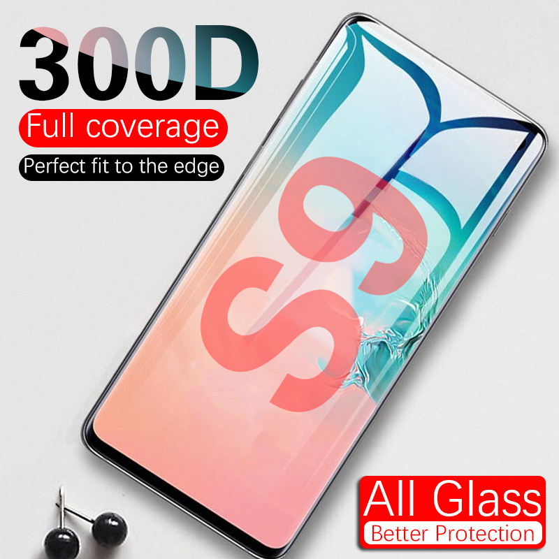 <font><b>300D</b></font> Full Curved Tempered Glass For Samsung Galaxy S8 S9 Plus Note 9 8 Screen Protector For Samsung S6 S7 Edge Protection Film image