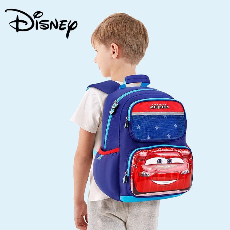 Disney Cartoon Kids Backpack Boys School Bags McQueen Motors Kids Bag High Quality