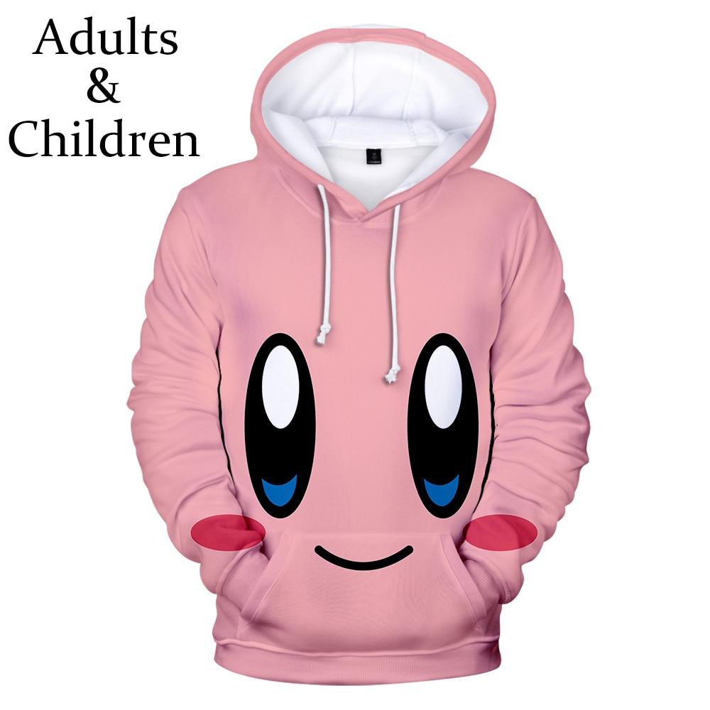 3D Hoodies Print Kirby Hoodie Men Sweatshirt Women Harajuku Kids Pink Pullovers Casual Hot Sale Kirby 3D Boys Girls Hooded