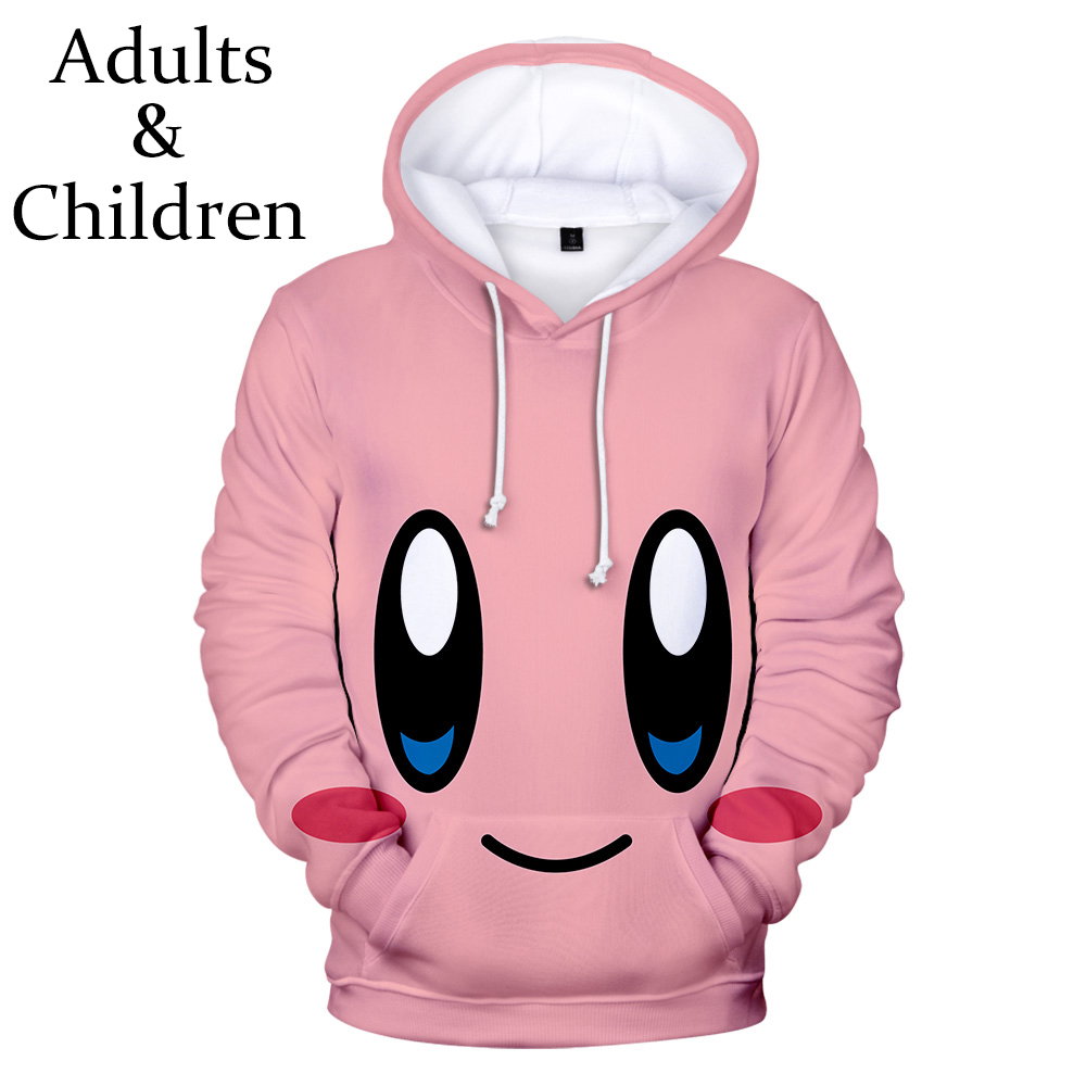 3D Hoodies Print kirby Hoodie Men Sweatshirt Women Harajuku Kids pink Pullovers Casual Hot sale kirby 3D boys girls Hooded