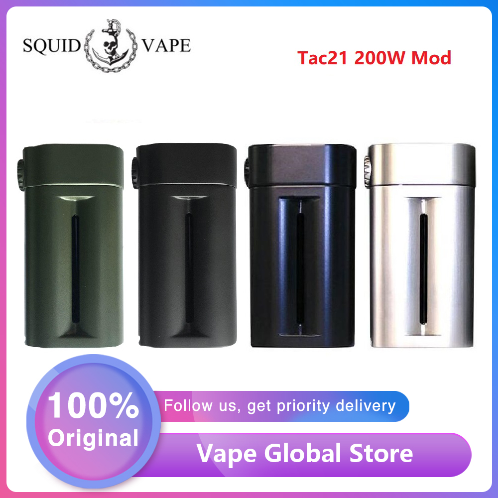 NEW Original Squid Industries Tac21 200W Mod High Power E-cig Mod With Top OLED Screen & Advanced Chipset & VW Modes Vs Shogun