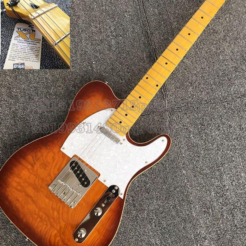 Flambant neuf Standard guitare électrique érable Fretboard boutique personnalisée Sunburst instrument de musique guitare, écrou du Canada, italie Gallistrings