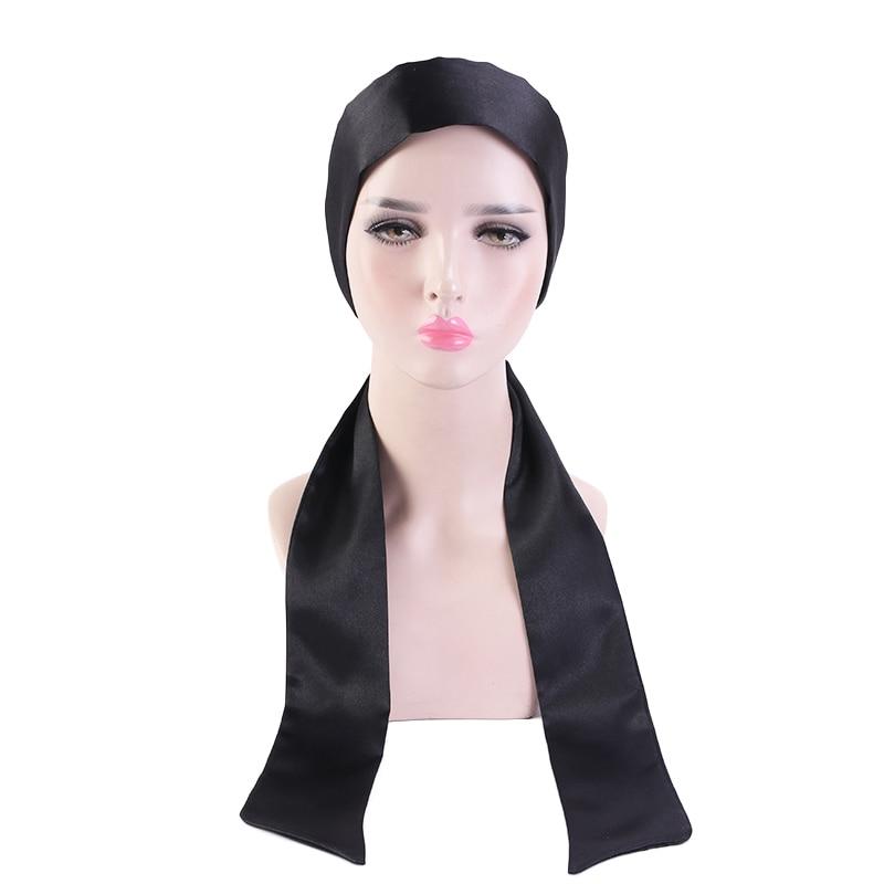 Шелковистые шарфы для волос длинные черные винные атласные шарфы для головы модная сумочка тонкое полотенце элегантные обертывания для во...