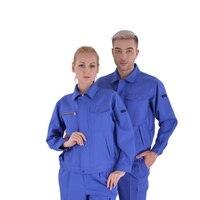Мужской и женский комбинезон размера плюс, осенний, с длинными рукавами, для мастерской, антистатические, для ремонта электромобилей, одноц...