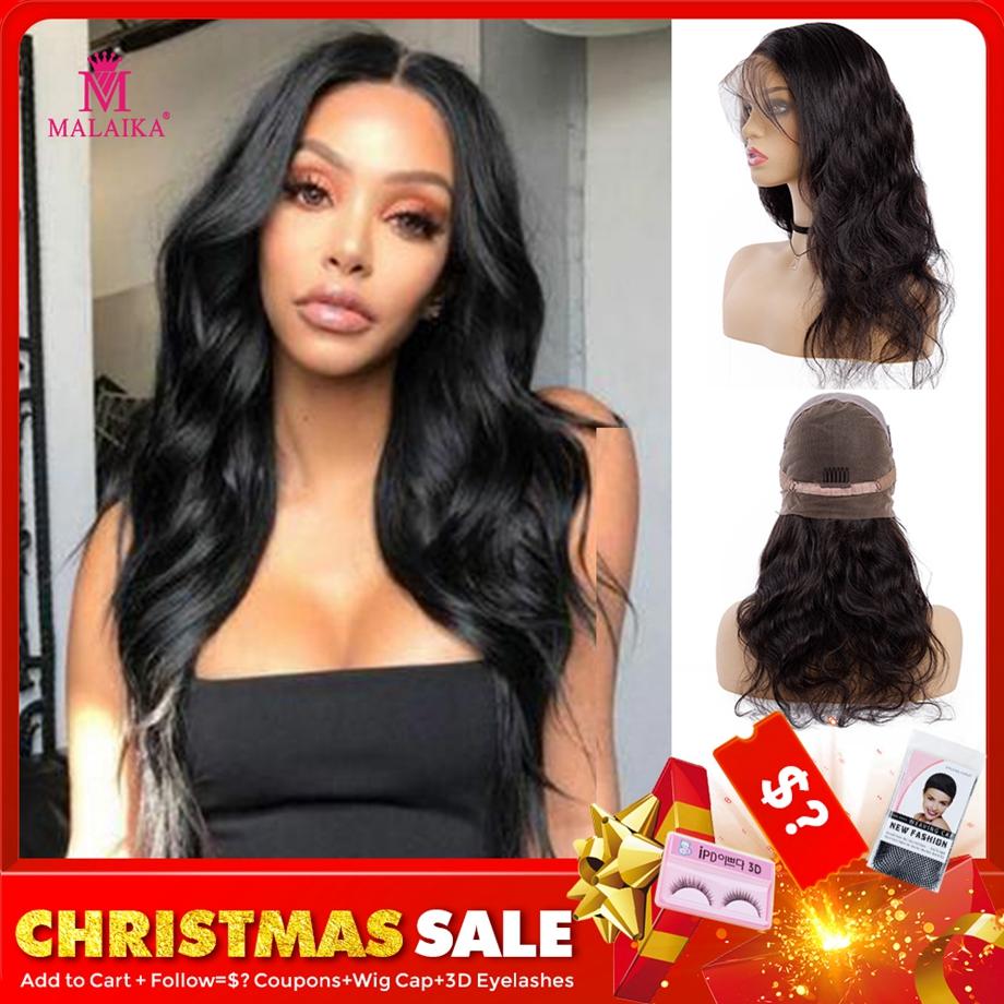 MALAIKA Hair Christmas Wigs Body Wave Full Lace Human Hair Wigs With Baby Hair Pre PluckedFull Lace Wigs For Black Women