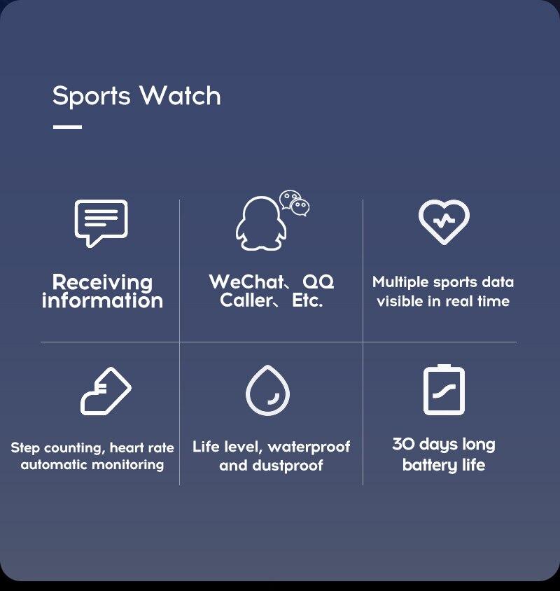 Hb422a4595390489a9393c2de556a38b5I Smart Watch Blood Pressure Smartwatch Tracker Heart Rate Fitness
