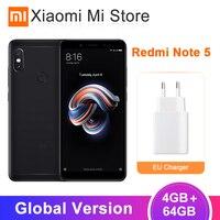 Original Global Version Xiaomi Redmi Note 5 4GB 64GB Snapdragon 636 Octa Core SmartPhone 5.99 Full Screen Dual Camera 4000mAh
