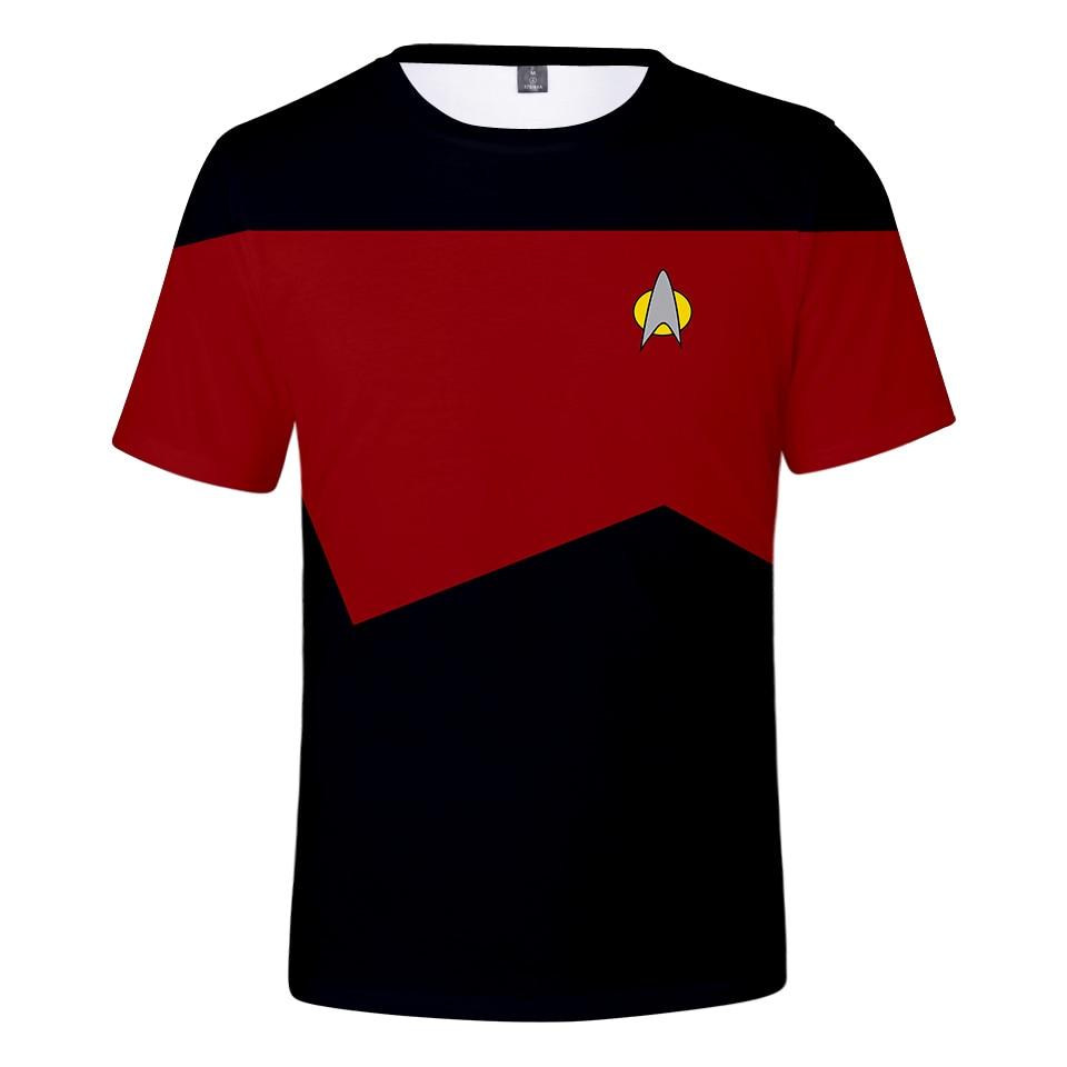 Movie Star Trek t shirt Men/Women Summer streetwear Short Sleeve Kpop Plus Size Star Trek cosplay tshirt streetwear 2020 New top(China)