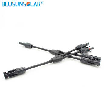20 Pairs Lot Waterproof Solar Parallel Y Branch 2 to 1 Connector Adapter Female/Male , TUV/ Standar LJ0154