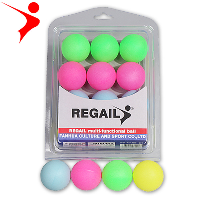 Ray Gal Boxed Color Plastic Table Tennis Toy Draw Decoration Ping Pong