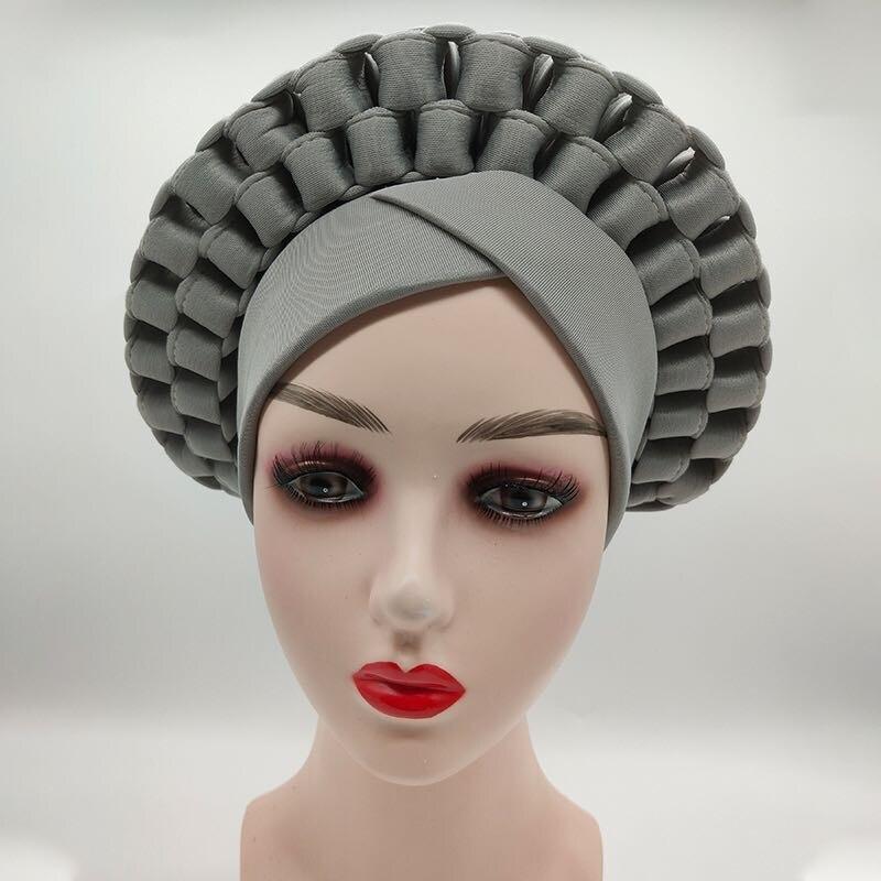 Купить 2021 тюрбан шляпа для женщин африканский aso oke головной убор