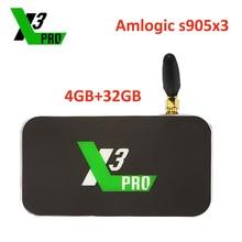 Ugoos X3 proأندرويد صندوق التلفزيون X3 برو Amlogic S905x3 LPDDR4 4GB 32GB 2.4G5G واي فاي LAN RJ45 1000M 4K مجموعة صندوق علوي Ugoos مشغل الوسائط
