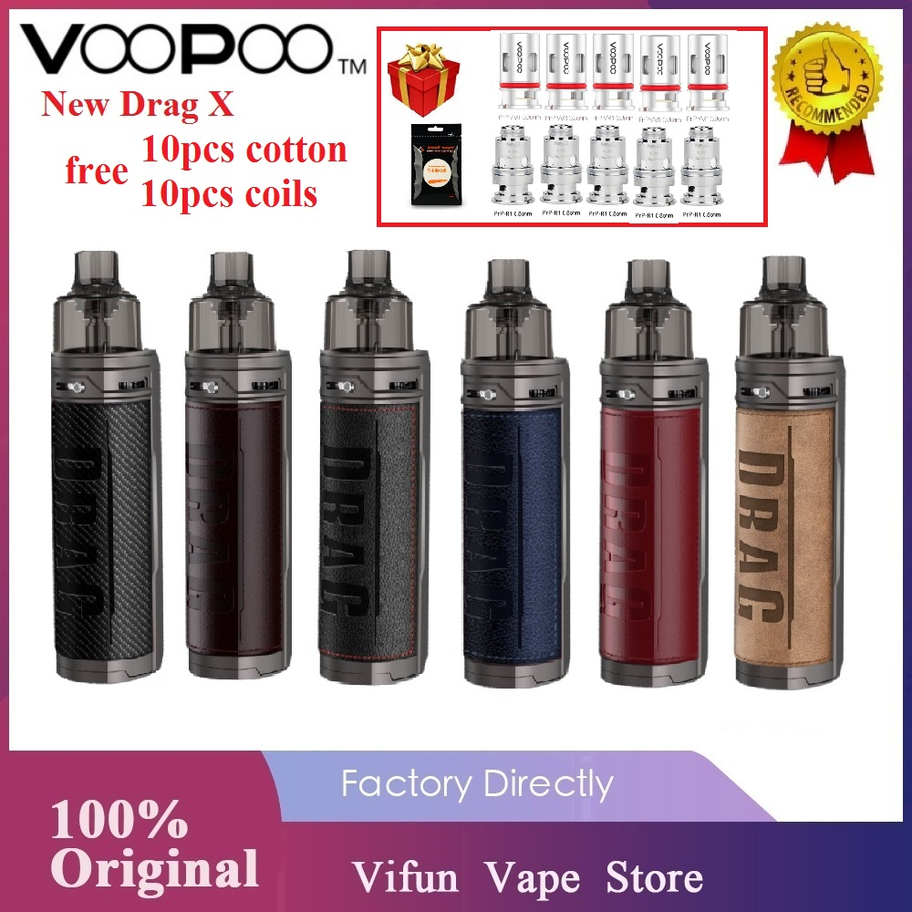 Free Gifts Original VOOPOO Drag X Mod Pod Vape Kit With TFT Color Screen & GENE.TT Chip E-Cig Vaporizer Vs Vinci X /Aegis Boost
