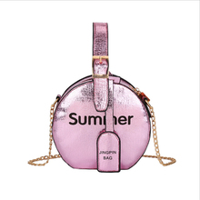 Womens Round Bag Chain Crossbody Bags For Women Handbags Letter Mini Pouch Laser Portable Small Package Shoulder