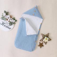 Детские спальные мешки новорожденных, детские коляски кровати толстые теплые Толщиным footmuff младенческой малыша Дети коляска аксессуары 0-6м конверт