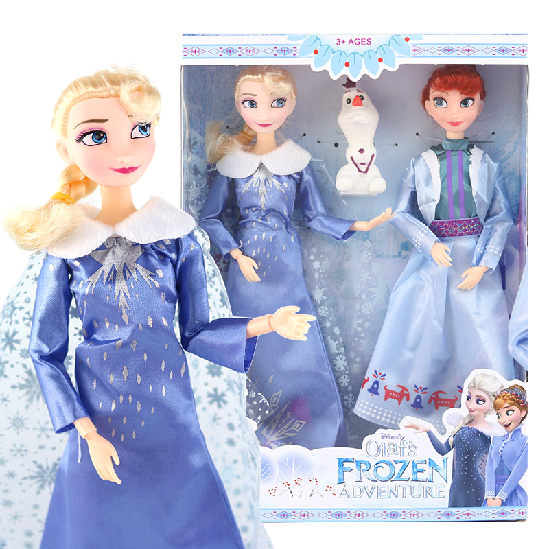 New 30cm Frozen 2 Elsa Anna Olaf Dolls 11 Joints Movable Figure Birthday Christmas Gifts Toys For Children Girl