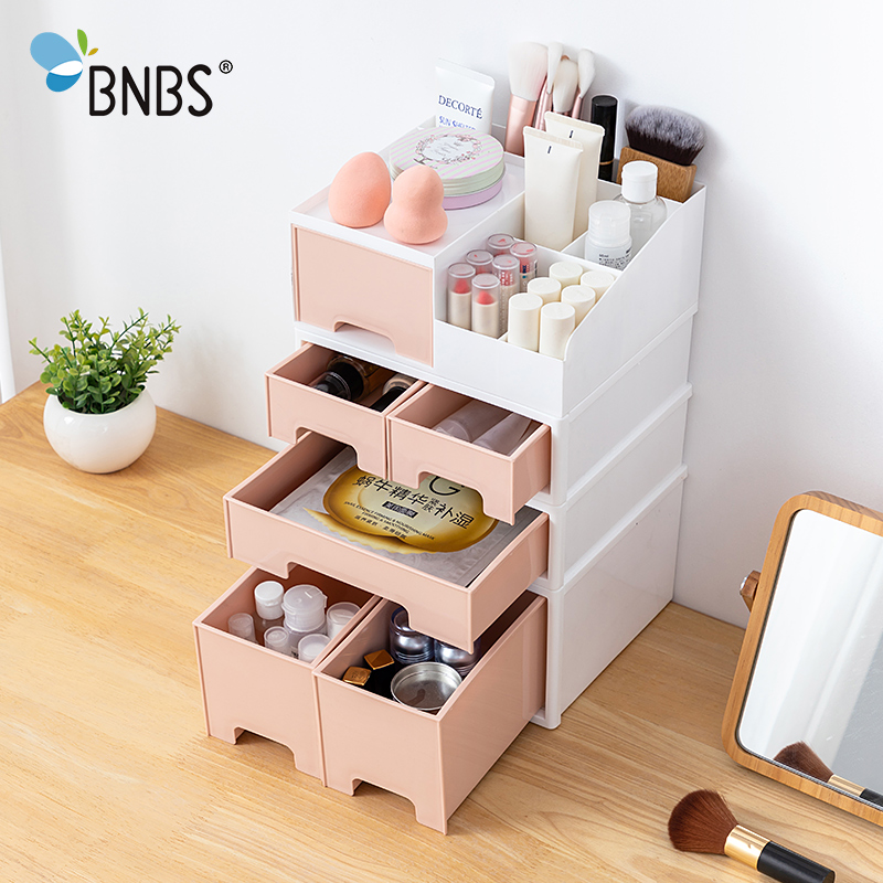 Stackable Desk Stationery Organizer Makeup Storage Box Container For Cosmetics Plastic Desktop Sundries Boxes For Storage